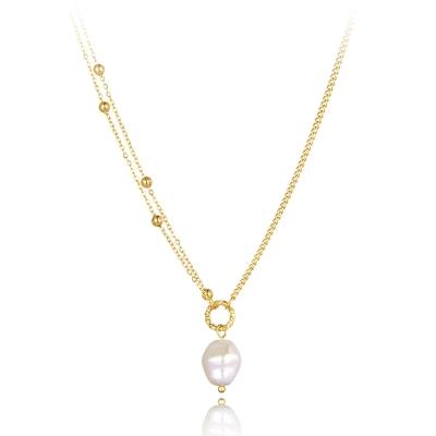 Ocelový náhrdelník s perlou Dana - chirurgická ocel