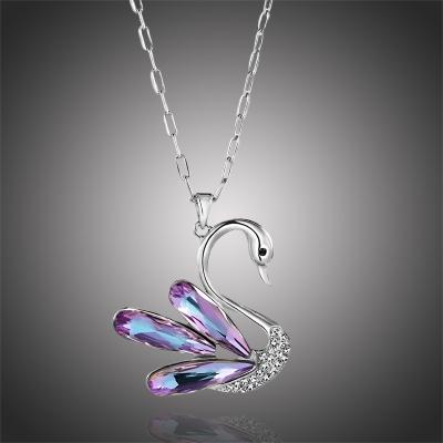 Dlouhý náhrdelník Swarovski Elements Claudia - labuť