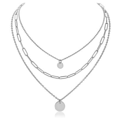 Ocelový trojitý náhrdelník Rugeri - chirurgická ocel