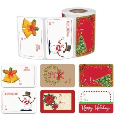 Samolepící vánoční nálepky na dárky - balení 250 ks