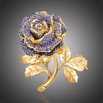 Brož se zirkony Celeste - růže