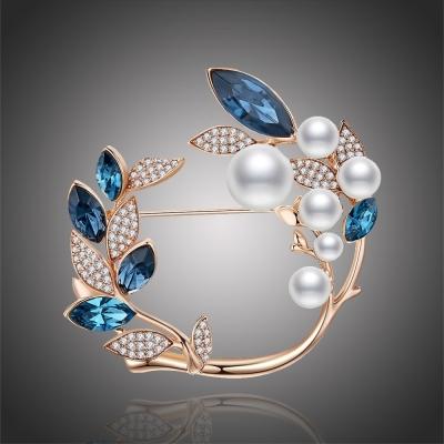 Luxusní perlová brož Swarovski Elements Jodie
