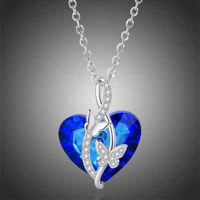 Exkluzivní náhrdelník Swarovski Elements Corintia - srdce