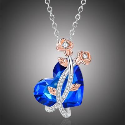 Exkluzivní náhrdelník Swarovski Elements Rolanda - srdce