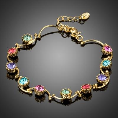 Náramek Swarovski Elements Pietri Gold