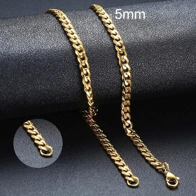 Pánský ocelový náhrdelník Erich Gold, 5 mm řetízek - chirurgická ocel