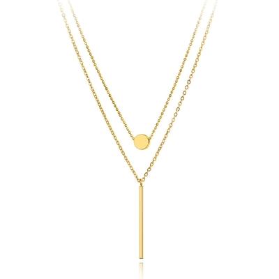 Ocelový dvojitý náhrdelník Bonnia - chirurgická ocel