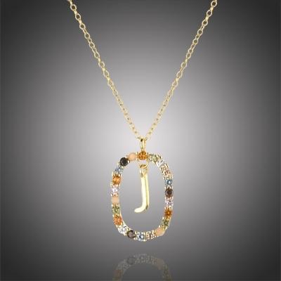 """Luxusní pozlacený náhrdelník písmeno """"L"""" LETTERS (řetízek, přívěsek)"""