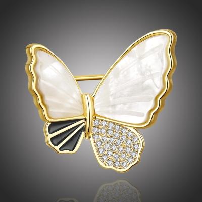 Exkluzivní brož se zirkony Antonella Gold