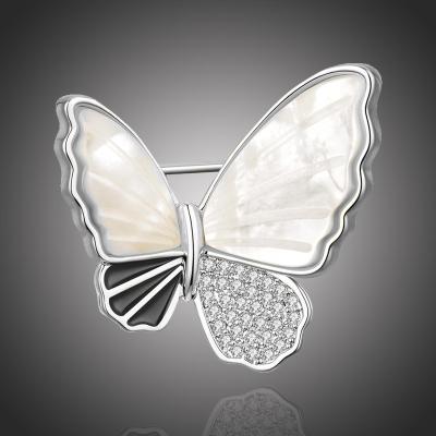 Exkluzivní brož se zirkony Antonella - motýl