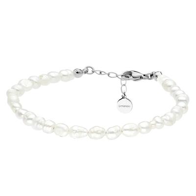 Perlový náramek Emilie -  řiční perla, chirurgická ocel