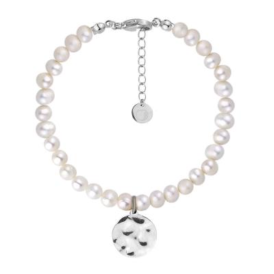 Perlový náramek Bibiana - řiční perla, chirurgická ocel