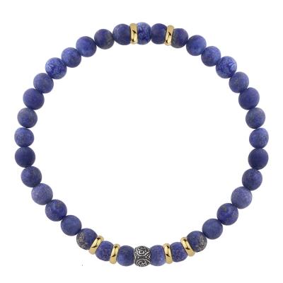 Korálkový náramek Christian - 6 mm Lapis Lazuli, etno styl