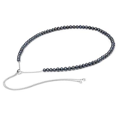 Perlový náhrdelník Juliena Black - sladkovodní perla, stříbro 925/1000