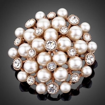 Brož Swarovski Elements Perlita - perly