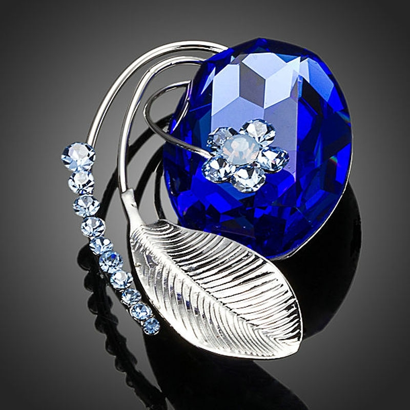Brož Swarovski Elements Grand Bleu
