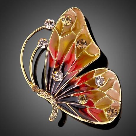 Brož Swarovski Elements Dona - motýl