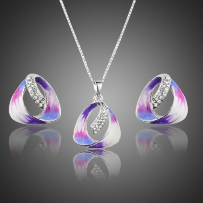 Souprava náhrdelníku a náušnic Swarovski Elements Scarsi