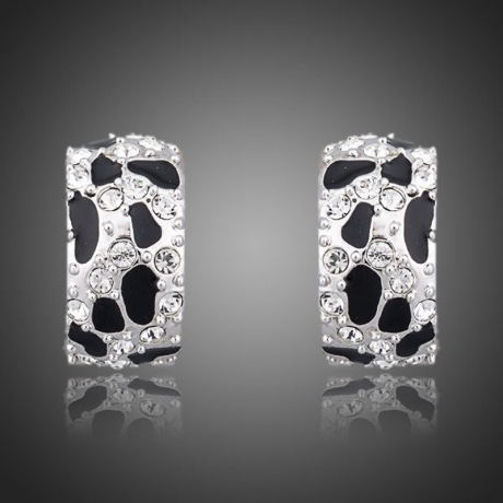 Náušnice Swarovski Elements Orfeo Silver