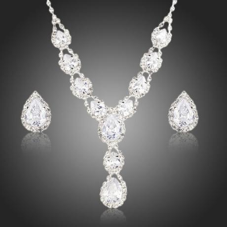 Souprava náhrdelníku a náušnic Swarovski Elements Accardo