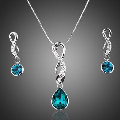Souprava náhrdelníku a náušnic Swarovski Elements Graceful Snake - had