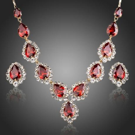Souprava náhrdelníku a náušnic Swarovski Elements Agiulla