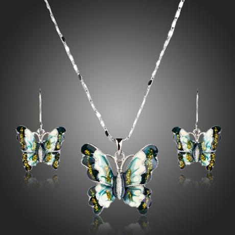 Souprava náhrdelníku a náušnic Papillon - motýl