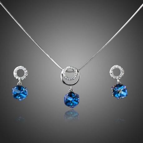 Souprava náhrdelníku a náušnic Swarovski Elements Alcina