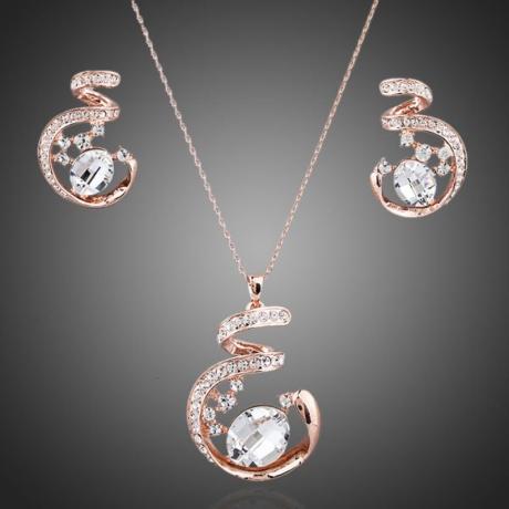 Souprava náhrdelníku a náušnic Swarovski Elements Beauté