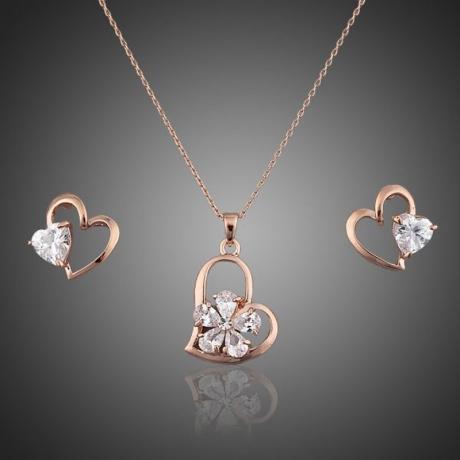 Souprava náhrdelníku a náušnic Swarovski Elements Jolianna - srdíčko