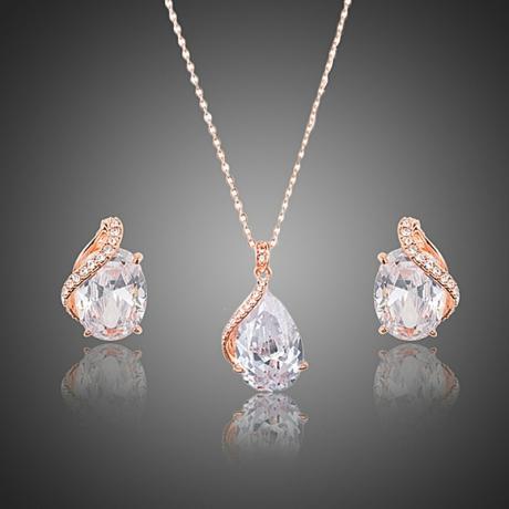 Souprava náhrdelníku a náušnic Swarovski Elements Mea