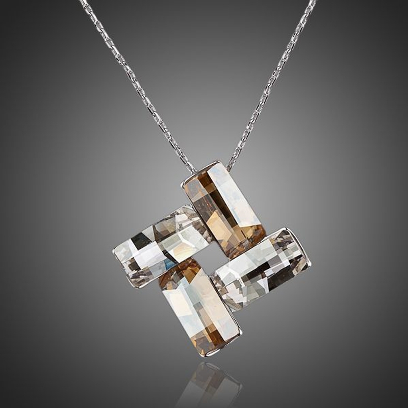 Náhrdelník Swarovski Elements Elgio - čtverec