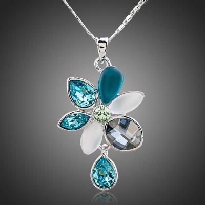 Náhrdelník Swarovski Elements Calandra - květina