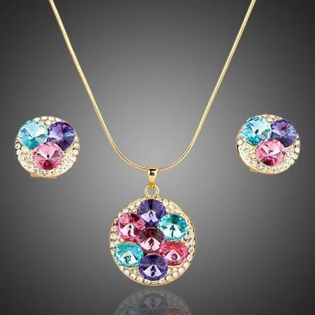 Souprava náhrdelníku a náušnic Swarovski Elements Lissette