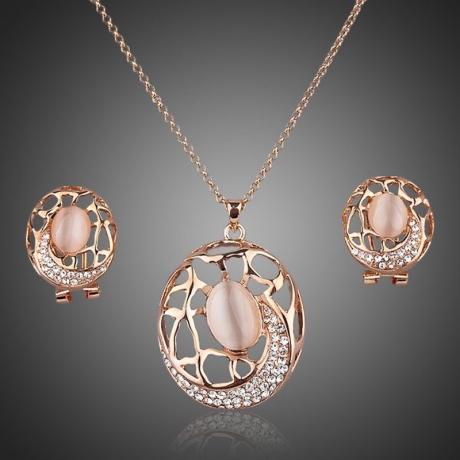 Souprava náhrdelníku a náušnic Swarovski Elements Apollina