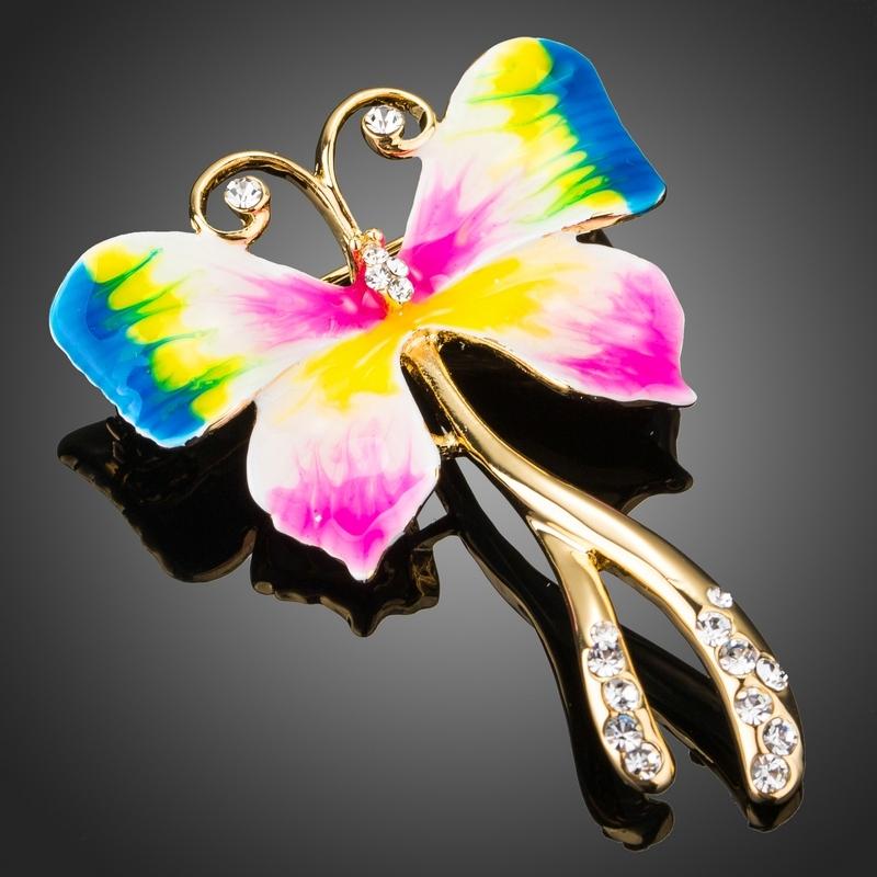 Brož Swarovski Elements Farfalla - motýl