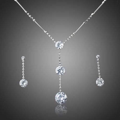 Souprava náhrdelníku a náušnic Swarovski Elements Aceline