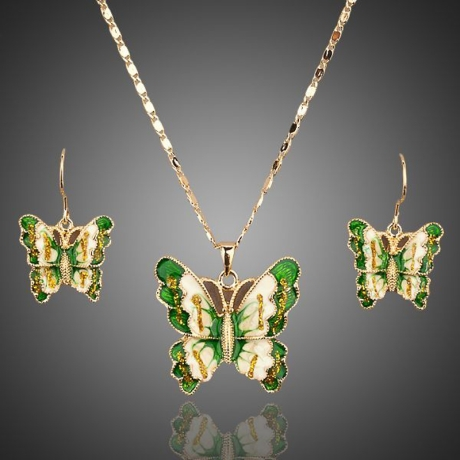 Souprava náhrdelníku a náušnic Swarovski Elements Papillon - motýlek