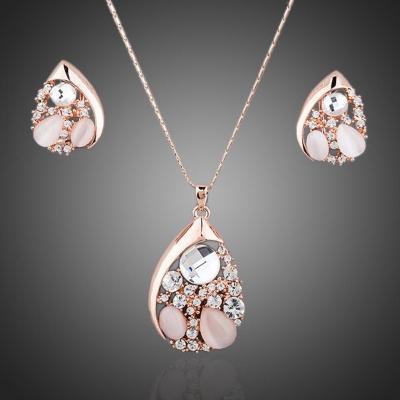Souprava náhrdelníku a náušnic Swarovski Elements Pleasance