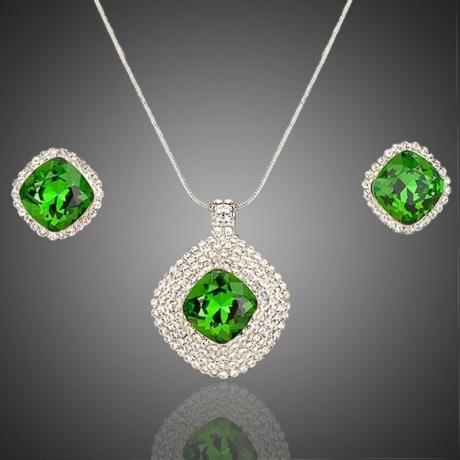 Souprava náhrdelníku a náušnic Swarovski Elements Jenette