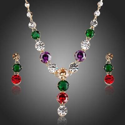 Souprava náhrdelníku a náušnic Swarovski Elements Vitalia