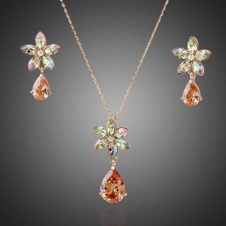 Souprava náhrdelníku a náušnic Swarovski Elements Justyne