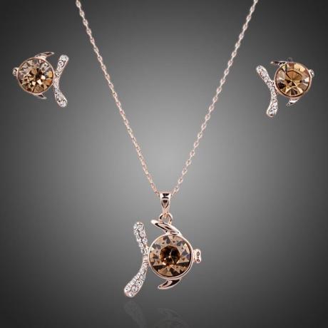 Souprava náhrdelníku a náušnic Swarovski Elements Adrina - ryba