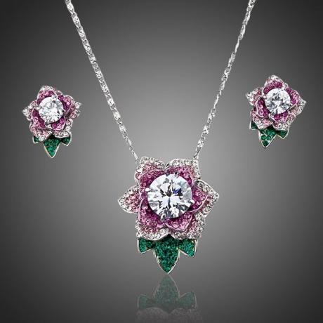 Souprava Swarovski Elements Ruffina - květina