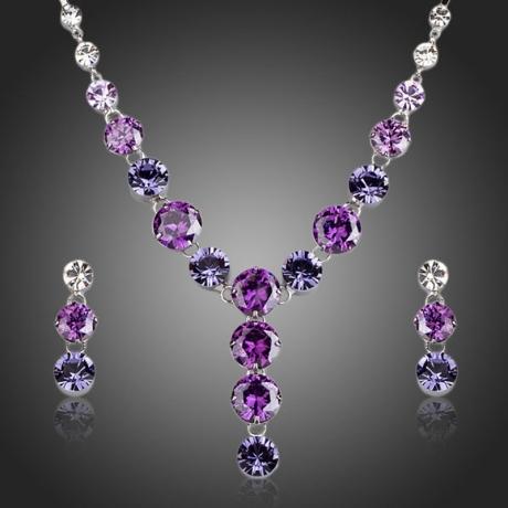Souprava náhrdelníku a náušnic Swarovski Elements Maurizia