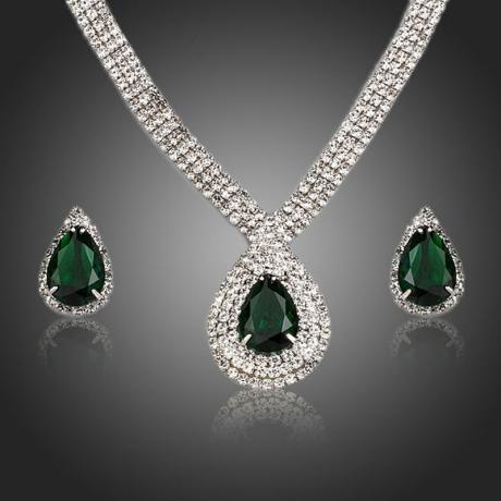 Souprava náhrdelníku a náušnic Swarovski Elements Loreana