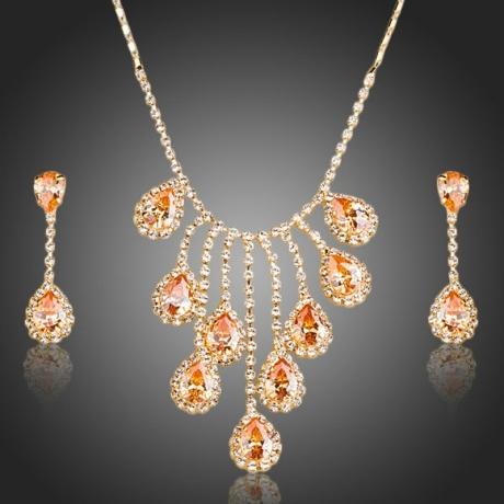 Souprava náhrdelníku a náušnic Swarovski Elements Meganne