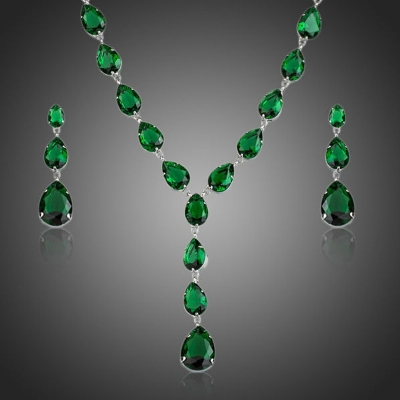 Souprava náhrdelníku a náušnic Swarovski Elements Alleffra