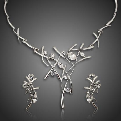 Exkluzivní souprava náhrdelníku a náušnic  Swarovski Elements Salvagia