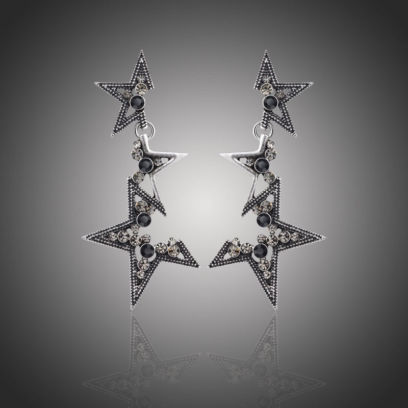Náušnice vintage Étoile Noire - hvězda